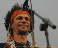 Algerian-born singer Amazigh Kateb of North African roots group Gnawa Diffusion