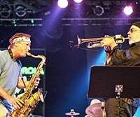 Bill Evans (left) and Randy Brecker