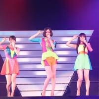 Neo trio: Perfume turned Japan's storied Nippon Budokan into a laser-filled neon nightclub with four concerts last week.
