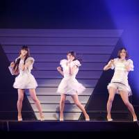Dance dance evolution: The members of Perfume say their dance routines are 'really fiendish' but that they enjoy the challenge of learning and performing them.