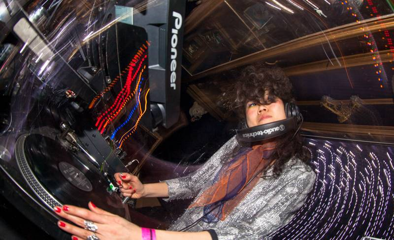 group A's Tommy Tokyo performs a DJ set for Tokyo Indie at Trump Room in Shibuya, Tokyo, on Friday.