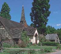 The former Anglican church near London where four early Japanese expatriates are buried.