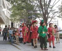 Last year's Halloween parade at Roppongi Hills.