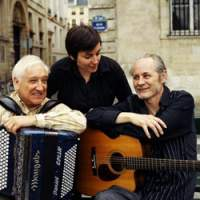 Accordion player Daniel Colin, with Clare Elziere and Dominique Cravic