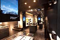 High tech meets high-end accessories at Porsche Design's recently opened store in Ginza.