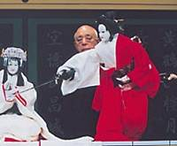 Celebrating the UNESCO designation of bunraku as a World Intangible Cultural Heritage at the Tokyo National Theater this month are Yoshida Bunjaku (above) and Gidayu narrator Takemoto Sumitayu. | PHOTOS COURTESY OF TOKYO NATIONAL THEATER