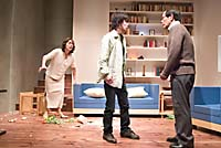 All hell breaks loose in the affluent home of Martin (Kotaro Shiga, far right) when his wife, Stevie (Yuriko Osaki), and son, Billy (Yuta Ishikawa), discover that he's having an affair ... with a goat. | PHOTO COURTESY OF SEINENDAN