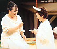 Actress Eriko Watanabe (left) and Shinobu Otake (right) | PHOTO COURTESY SIS THEATER COMPANY