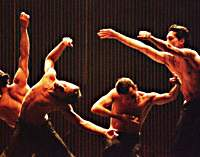 Dancers from the Karas Company in 'Kazahana.'