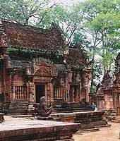 Banteay Srie, a Hindu temple dedicated to Shiva