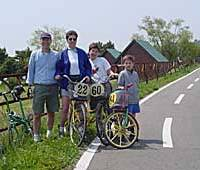 Bicycle-only roads are great for family rides -- no worries about kids in traffic.