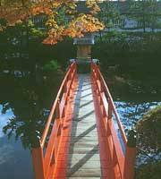 Bridge leading to an island shrine