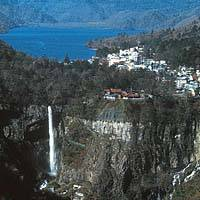 The 99-meter-high Kegon Waterfall plunging from Lake Chuzenji in Nikko National Park (above); part of the biannual '1,000 Samurai Parade' through Nikko to commemorate the 1617 enshrinement there of Tokugawa Ieyasu | PHOTOS COURTSEY OF THE JAPAN NATIONAL TOURIST ORGANIZATION