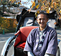 Rickshaw-man in the samurai quarter.