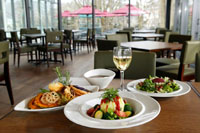 LYS, the cafe-restaurant attached to the museum, offers French cuisine in a casual atmosphere.