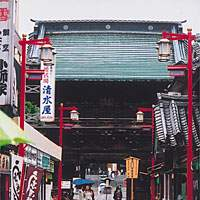 The entrance to Nishi-Arai Daishi Temple.