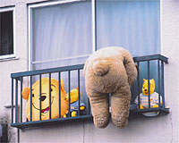 Adachi Ward residents are notorious for their sense of humor, as can be seen in this teddy-bear scenario.