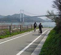 Cyclists get many dedicated roads along the Shimanami Kaido.
