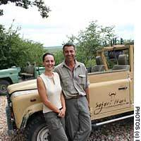 Vitor Azevedo and his wife Anneline, whose Safari Hoek reserve is home to some of Africa's best trophy animals