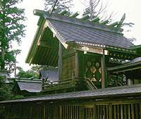 Another view of the shrine at Mount Mitake.