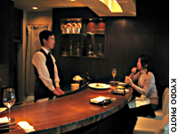 Web editor Masayo Saito, 28, dines alone at Seifu Meigetsu in Tokyo's Ginza district after work earlier this month.