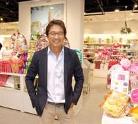 Sundries helped: Fumio Takashima, president and CEO of BALS Corp., poses in a Francfranc store in Shibuya Ward, Tokyo, last week. | YOSHIAKI MIURA PHOTO