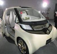 Volt or jolt?: Toyota Motor Corp. unveils on Tuesday its tiny FT-EV II electric vehicle (above) and low-emission FT-86 sports car. | HIROKO NAKATA PHOTOS