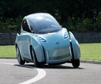 Lean machine: The Land Glider, a concept Nissan Motor Co. will exhibit at the Tokyo Motor Show, leans into corners. | COURTESY OF NISSAN
