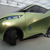 New look: The PIVO3, a concept electric vehicle made by Nissan Motor Co., is displayed at the firm's development center in Kanagawa Prefecture on Oct. 20. | HIROKO NAKATA