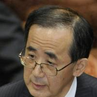 Cash man: Bank of Japan Gov. Masaaki Shirakawa speaks at the Diet on Friday. | KYODO