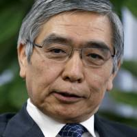 Deflation fighter: Haruhiko Kuroda, president of the Asian Development Bank, speaks during an interview in Tokyo on Feb. 11. | BLOOMBERG