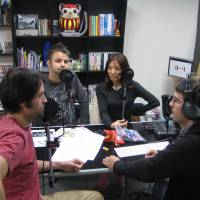 Fantastic four: The team at localization agency 8-4 (Mark MacDonald left) record an episode of their podcast focused on Japanese video games at their Tokyo office.