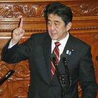 Abe plays it safe in Diet speech