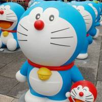 Comic relief: These figures of Doraemon will be displayed around Hakone, Kanagawa Prefecture, through most of March. | FUJIKO-PRO / KYODO