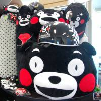 Moneymaking mascot: Kumamon character products are displayed at the Kumamoto prefectural office on Feb. 20. | KYODO