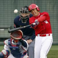 Carp crush Samurai Japan hopefuls in warmup