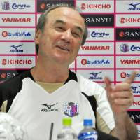 Third time's the charm: Levir Culpi returned midway through last season to manage Cerezo Osaka for a third time. | KYODO