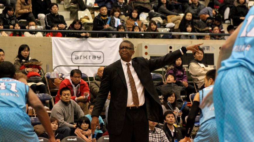 Making progress: Bill Cartwright, longtime NBA center and former Chicago Bulls head coach, has guided the Osaka Evessa to five wins in 10 games since he took over as bench boss for the struggling team last month.