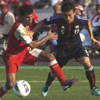 Best foot forward: Yuto Nagatomo and his Japan teammates begin the 2013 international season with a friendly against Latvia in Kobe next Wednesday. | AP