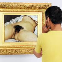 Painting may reveal face of Courbet nude