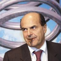 Rambling on: Center-left coalition leader Pier Luigi Bersani arrives for a political meeting in Milan. | AP