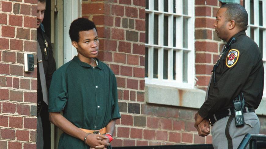 Serial criminal: Convicted sniper Lee Boyd Malvo in 2002