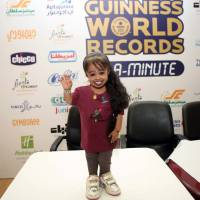 Not a doll: Jyoti Amge, 19,  who comes from Nagpur in India, is the world's shortest woman at 58.4 cm tall, the Guinness Book of Records says. She is seen in Kuwait City on Thursday. | AFP-JIJI