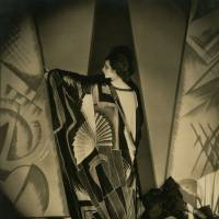 Tamaris With a Large Art Deco Scarf (1925)  | 1925 COND NAST PUBLICATIONS