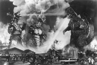 Doing battle in 'Terror of Mechagodzilla' (1975)
