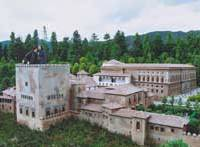 The Alhambra, near Granada in Spain, is just one of the world landmarks reproduced in miniature at Tobu World Square amusement park in Tochigi Prefecture.