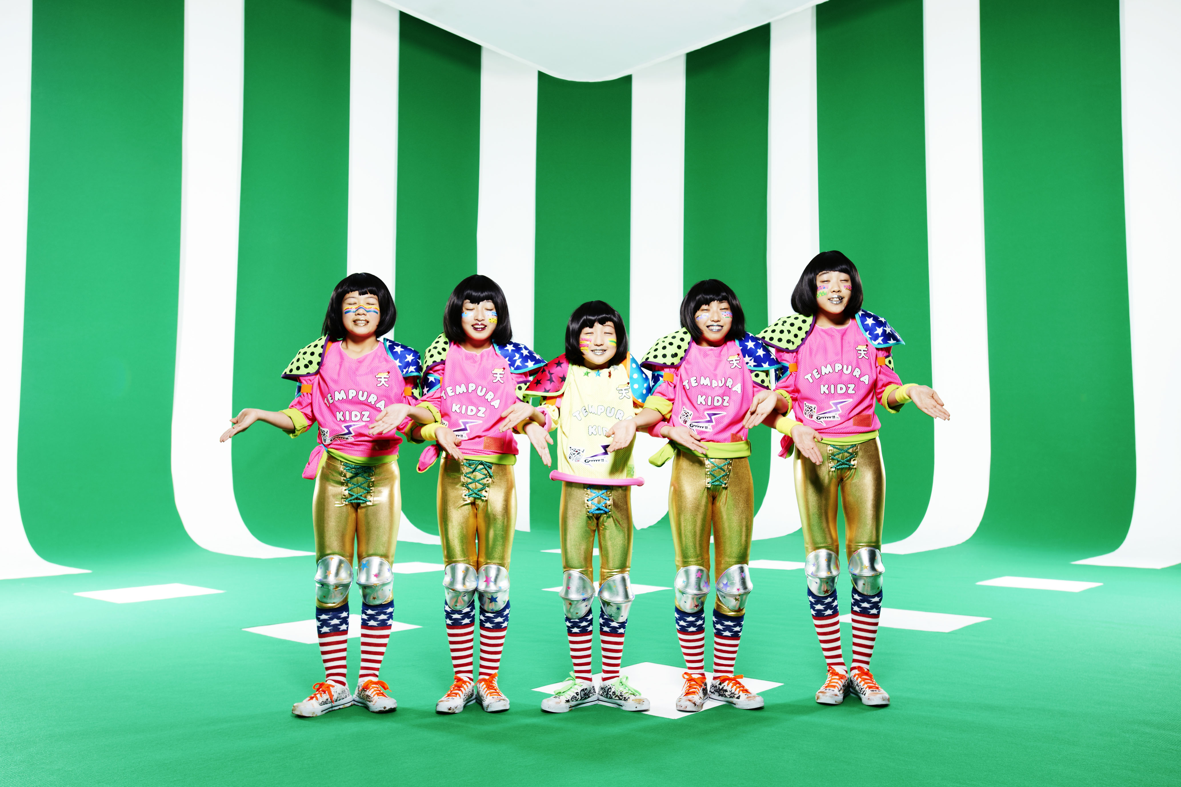 Growing up in the limelight: Tempura Kidz (from left: Karin, Ao, P ...