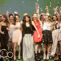Party time: Models celebrate at last year's Fukuoka Asia Collection. The event returns for the fifth time on March 24.