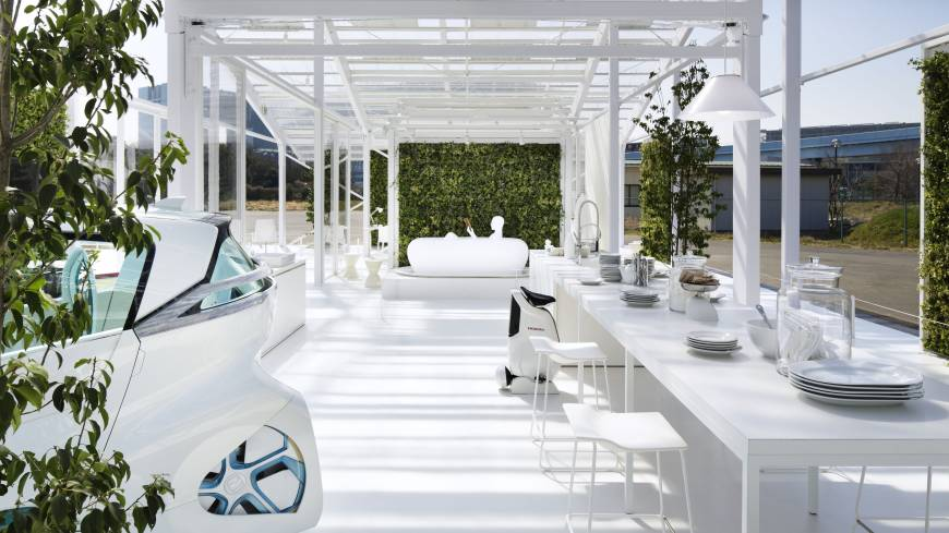 Mobile home: Honda and architect Sou Fujimoto created a house allowing for use of electric-powered mobility devices.