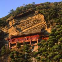 Awe-inspiring heights: The extraordinary cliffside location of Daifuku-ji Temple.